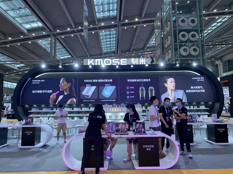 KMOSE刻米亮相IECIE电子烟展会,新烟弹、新口味、新配色三新齐聚!
