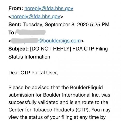 铂德提交PMTA申请 或成美国唯一国产烟油供应商